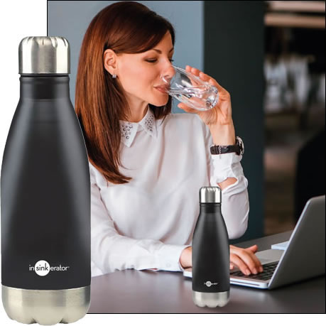 Sign up to receive a free reusable drinks bottle from Insinkerator